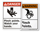 ANSI Pinch Point Signs