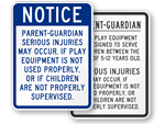 Playground Warning Signs