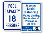 Pool Capacity Signs