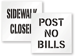 Post No Bills Stencils