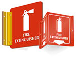 Projecting Fire Extinguisher Signs