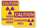 Radiation Area Signs & Labels