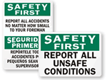 Report Accidents Signs