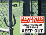Restricted Area Signs