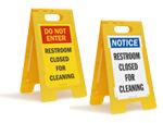 Restroom Floor Signs