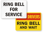 Ring Bell for Deliveries Signs