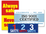 Safety Banners - Quality and Teamwork Banners