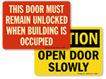 Door Safety Signs