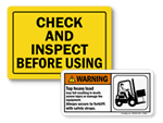 Forklift Safety Labels