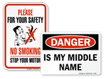 Funny Safety Signs