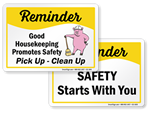 Safety Reminder Slogan Signs