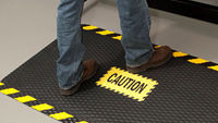 Safety Message Mats, Floor Signs, Cone Signs, Stencils