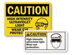 Ultraviolet Light - UV Safety Signs