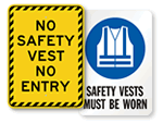 Safety Vest Signs
