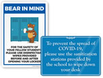 Sanitize Signs for Schools
