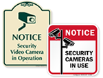 Security Cameras in Use Signs