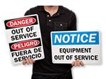Service Machine Safety Signs