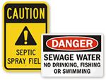 Sewage & Waste Water Signs