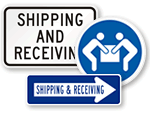 Shipping & Receiving Signs