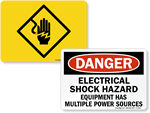Shock Hazard Signs