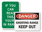 Shooting Range Signs