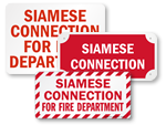 Siamese Connection Signs