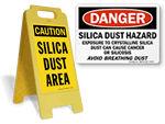 Silica Hazard Signs