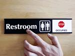 Slider Restroom Signs