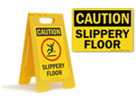 Slippery Floor Signs