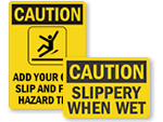 Slippery When Wet Signs