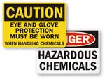 OSHA Chemical Hazard Signs