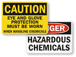 OSHA Chemical Hazard Signs
