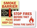 Smoke Barrier Sign