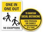Maximum Occupancy for Bathroom Signs