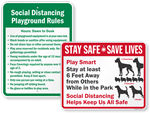 Social Distancing Signs for Parks and Playgrounds