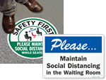 Social Distancing Signs for Waiting Rooms