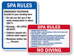 Spa Rules Signs