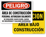 Spanish Construction Signs