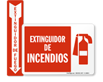 Spanish Fire Safety Signs