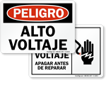 Spanish High Voltage Signs