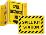 Spill Kit Signs