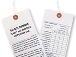Sprinkler Inspection Tags