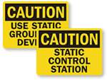 Static & Grounding Signs