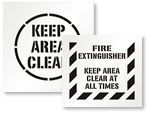 Keep Area Clear Stencils