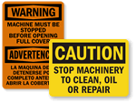Stop Machine Signs