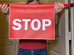 Stop Sign Barricades for Doors