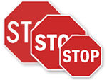 Official Traffic Stop Signs