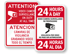 Bilingual Surveillance Signs