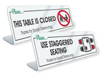 TableTop Signs for Cafeterias