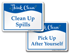 Think Clean Signs